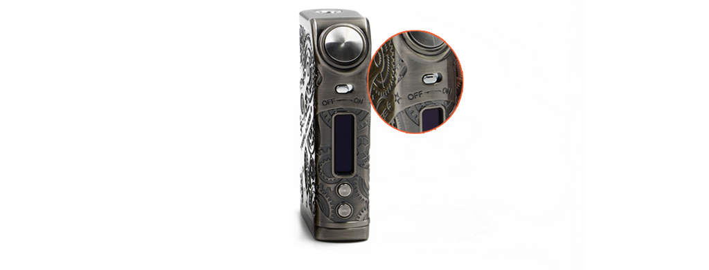 Teslacigs Nano 120W Steampunk TC Box Mod Toggle Switch Design
