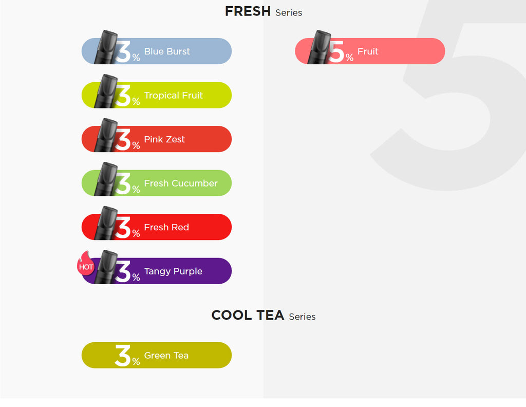 Relx Replacement Pre-filled Pod Chinese Edition Flavor Fresh Flavor & Tea