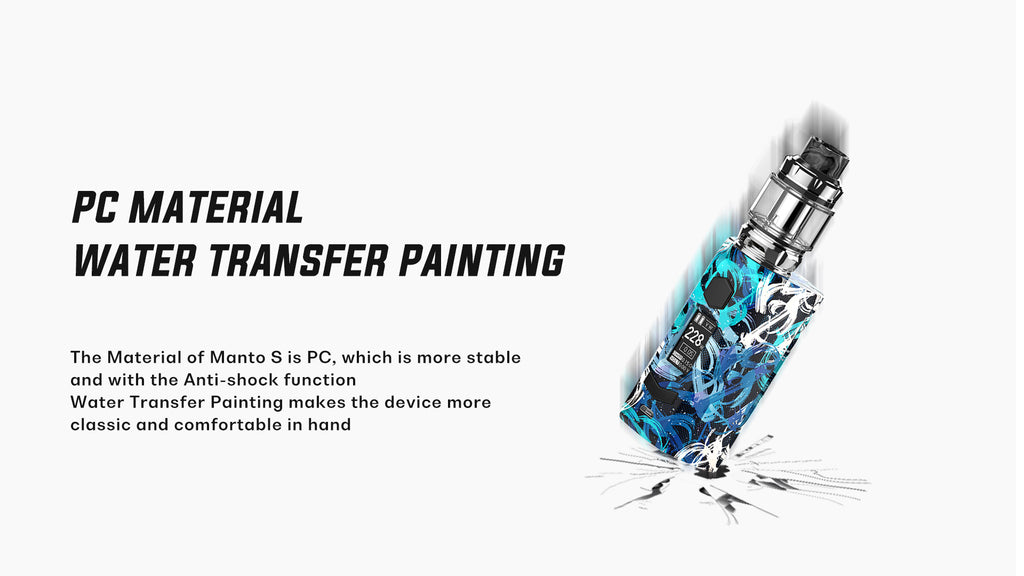 Rincoe Manto S TC Box Mod Kit PC Material Water Transfer Painting
