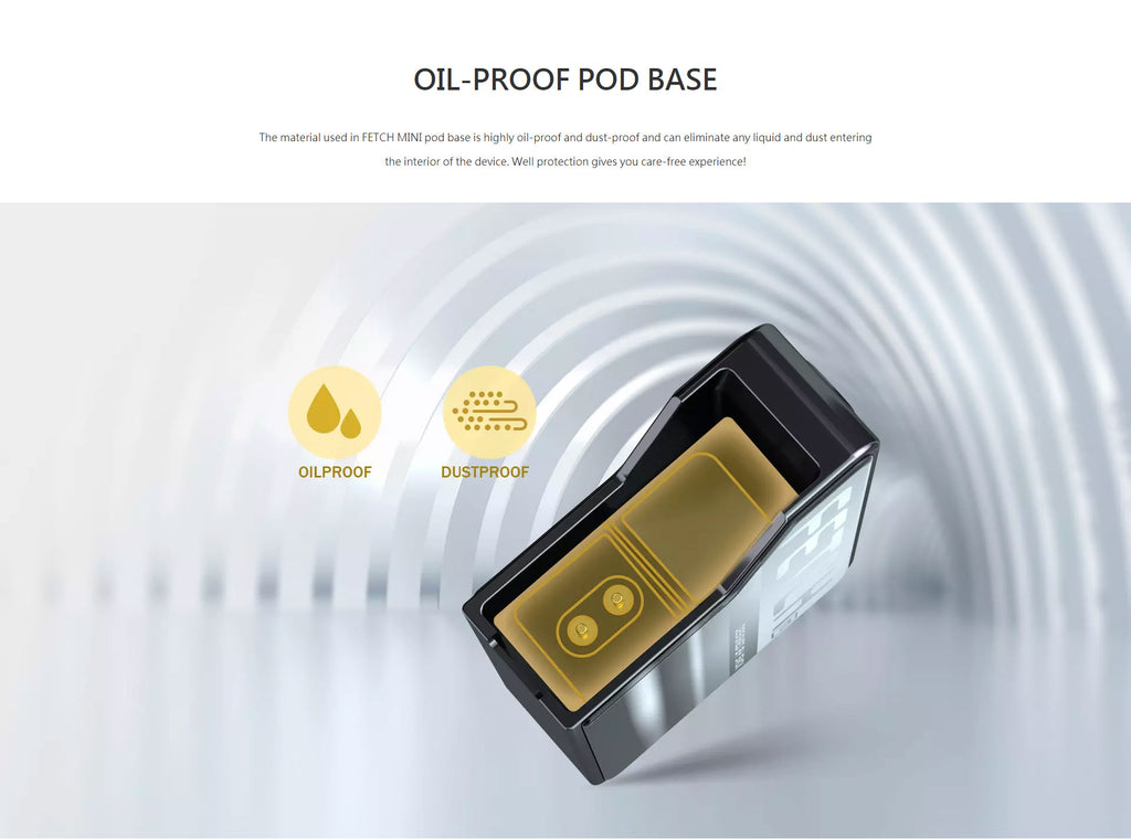 SMOK Fetch Mini Vape Pod System VW Starter Kit Oil-Proof Pod Base