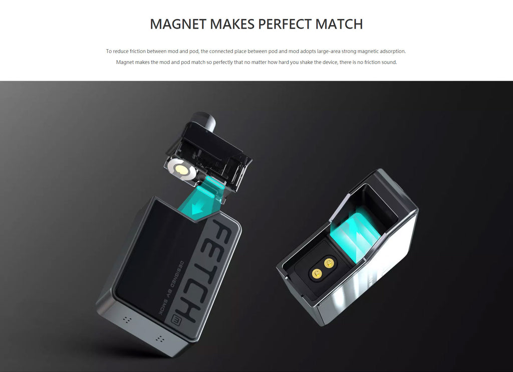 SMOK Fetch Mini Vape Pod System VW Starter Kit 1200mAh 3.7ml Standard Edition Magnet Link