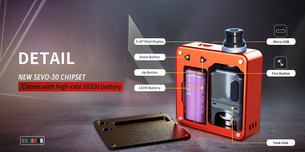 SXK Bantam Revision VW Box Mod Kit 30W 5ml Details