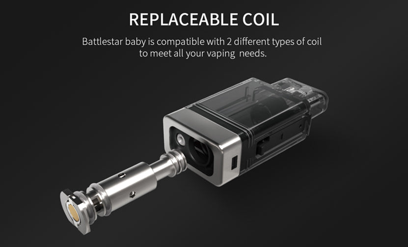 Smoant Battlestar Baby 2ml Vape Pod Cartridge Replaceable Coil