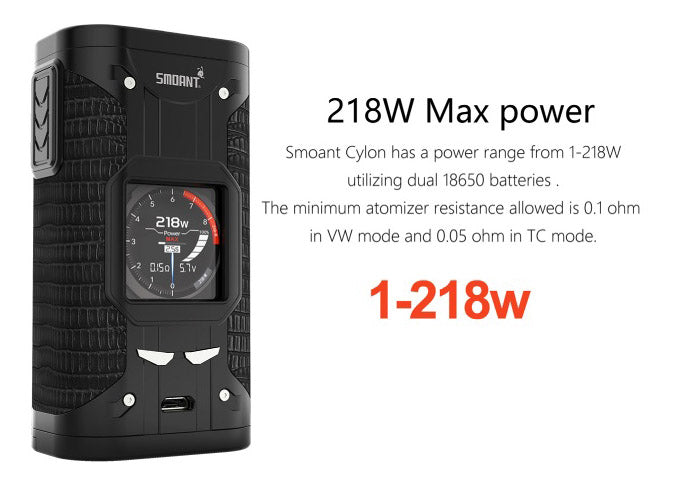 Smoant Cylon TC Box Mod 218W Max Power