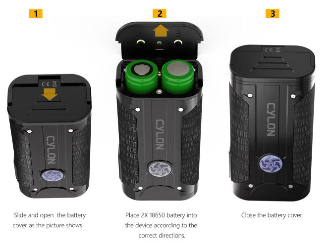 Smoant Cylon TC Box Mod Batteries