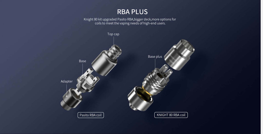 Smoant Knight 80 Replacement RBA Coil Head Components