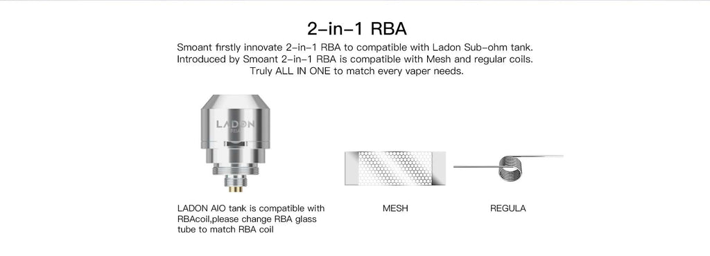 Smoant Ladon AIO Replacement 2-in-1 RBA Coil Head