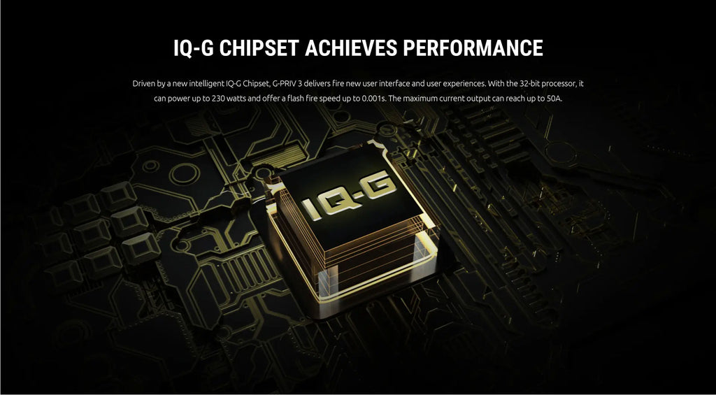 Smok G-PRIV 3 TC Mod IQ-G Chipset Achieves Performance