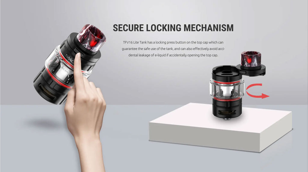 Smok TFV16 Lite Tank 5ml Secure Locking Mechanism