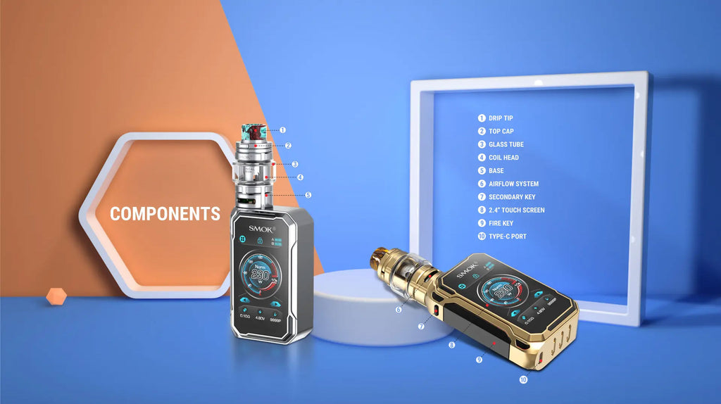 Smok G-PRIV 3 TC Mod Kit with TFV16 Lite Tank 230W 5ml Components