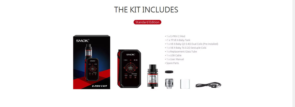Smok G-Priv 2 TC Mod Kit Includes
