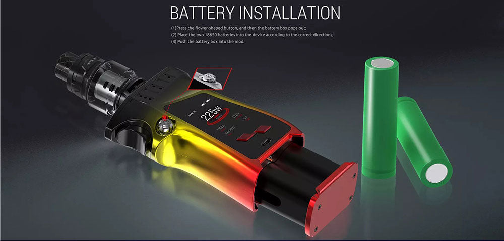 Smok Mag TC Mod Kit Battery Installation