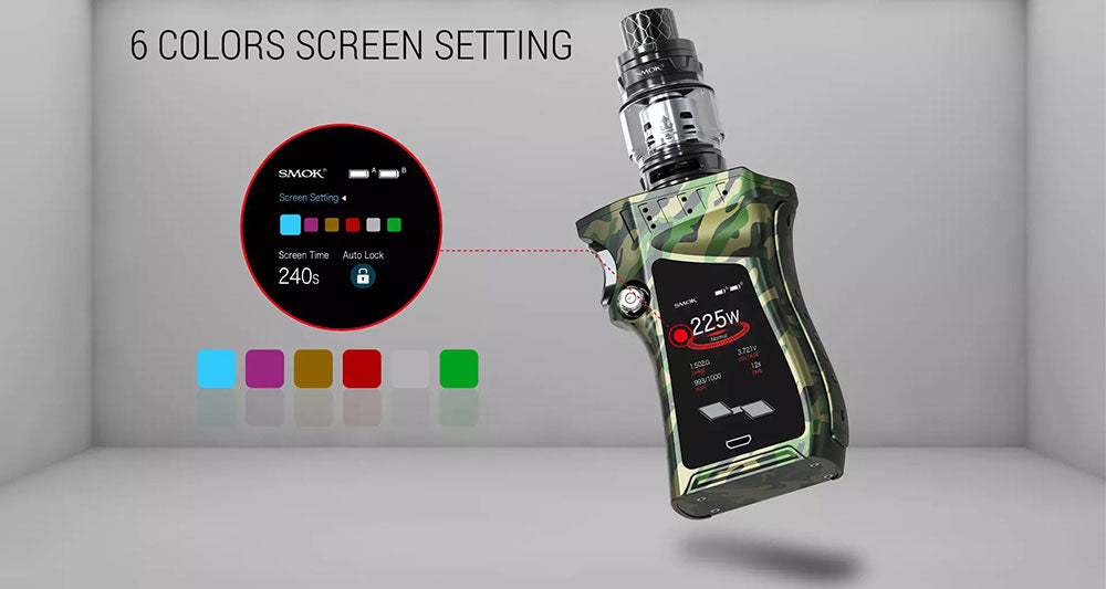 Smok Mag TC Mod Kit with TFV12 Prince Tank 225W 8ml 6 Colors Screen Setting