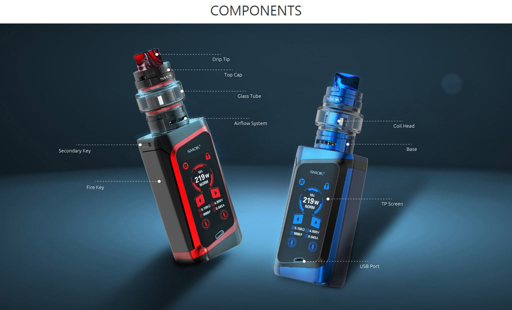 Smok Morph 219W TC Mod Kit with Touch Screen Components
