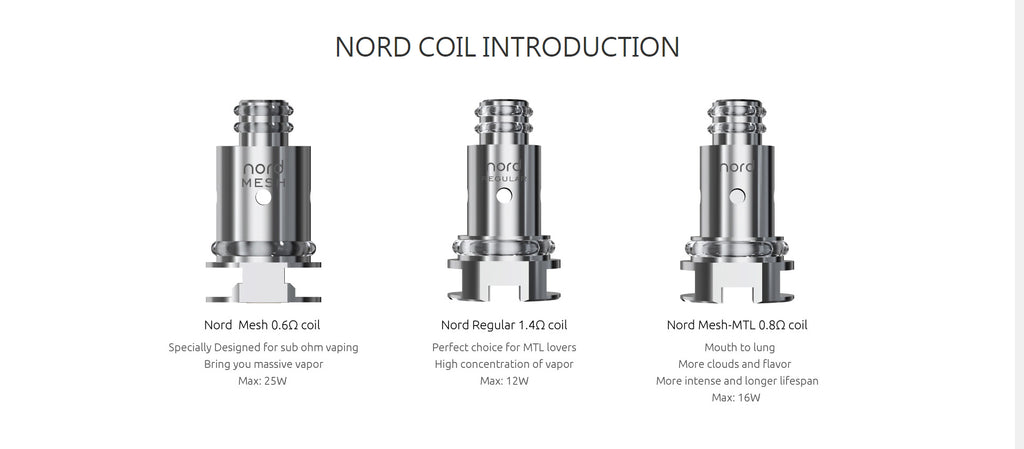 Smok Nord 22 Vape Pen Kit Coil Introduction