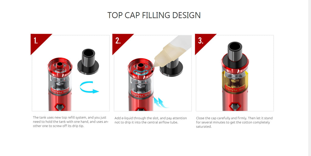 Smok Nord 22 Vape Pen Kit Filling Design