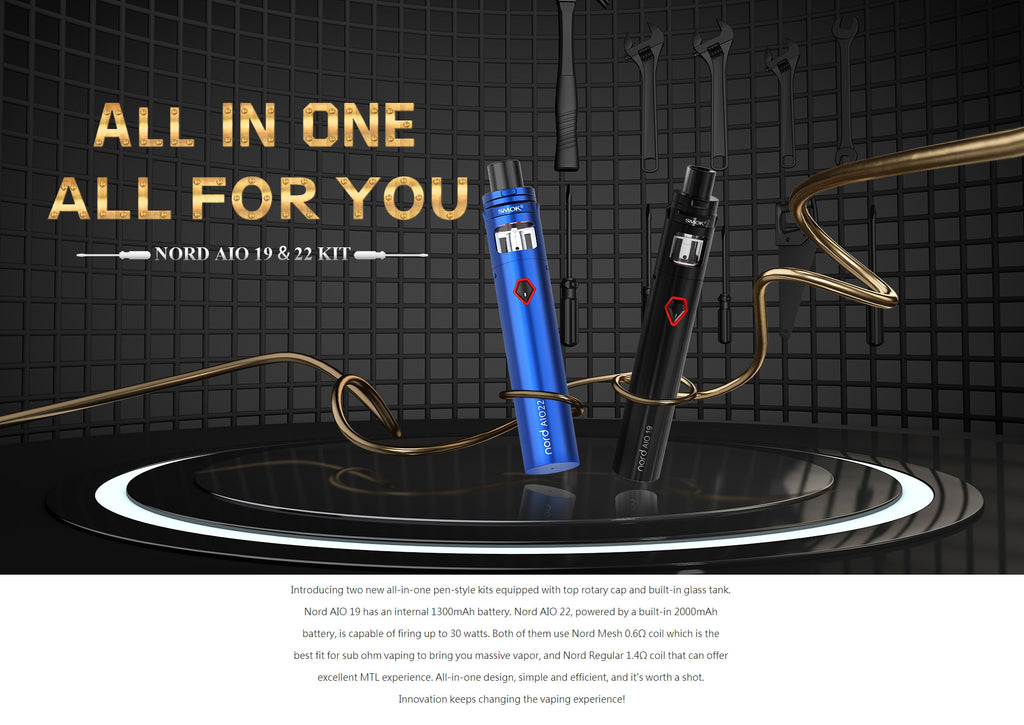 Smok Nord AIO 22 Vape Pen Kit 2000mAh 3.5ml Standard Edition