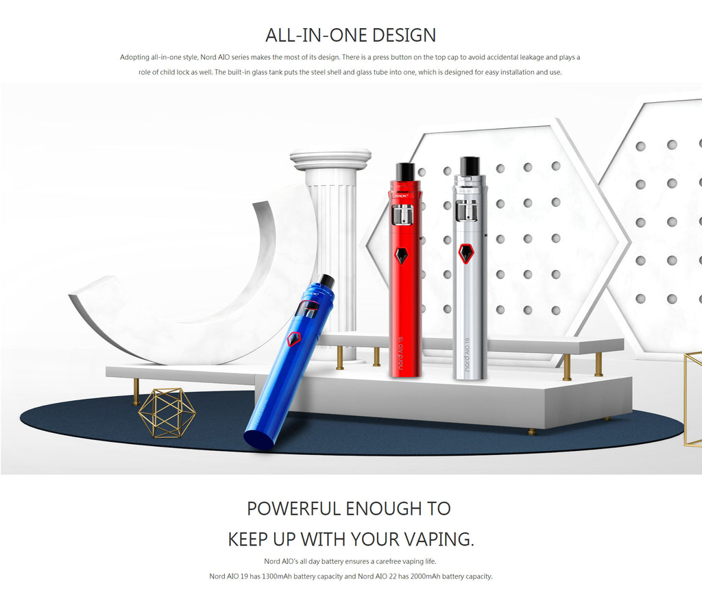 Smok Nord AIO 22 Vape Pen Kit Design