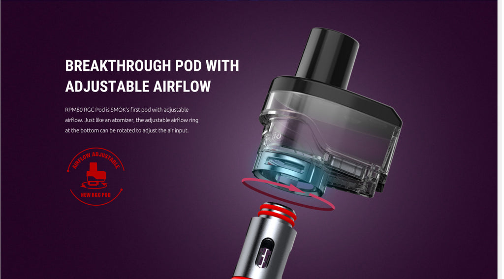 Breakthrough Pod With Adjustable Airflow