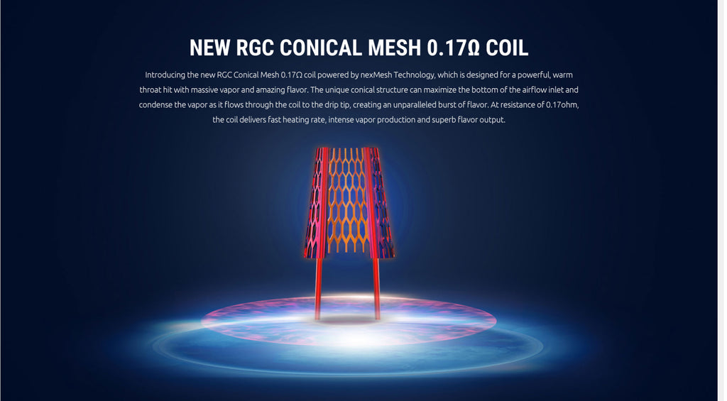 New RGC Coopuiial Mesh 0.17ohm Coil