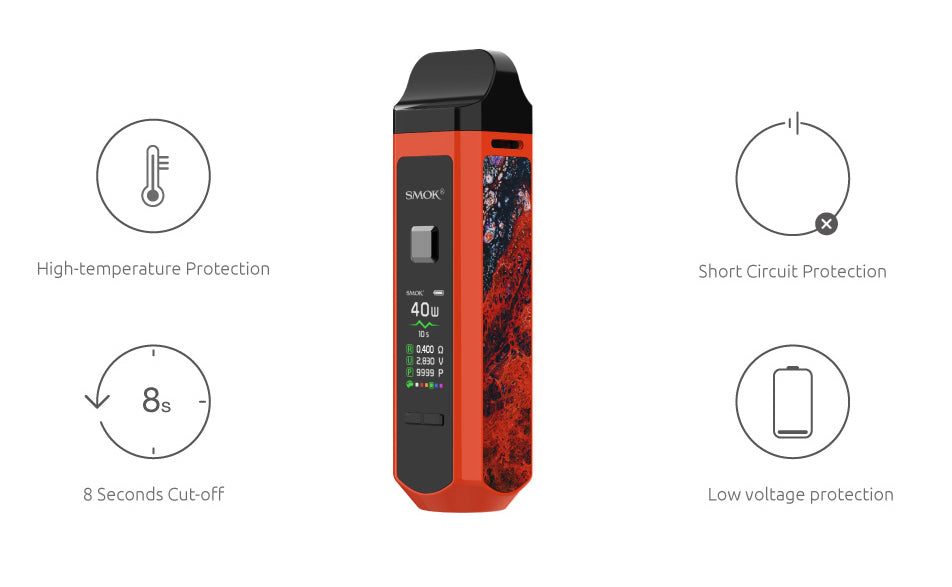 Safety Smok RPM 40 Vape Pod System VW Starter Kit