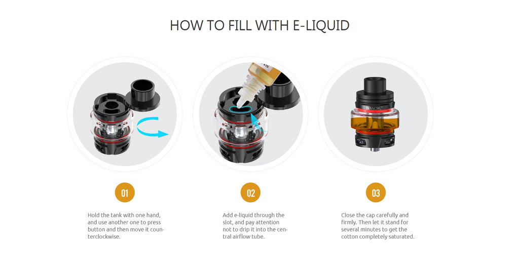 Smok Stick V9 Vape Pen Kit Filling ijk