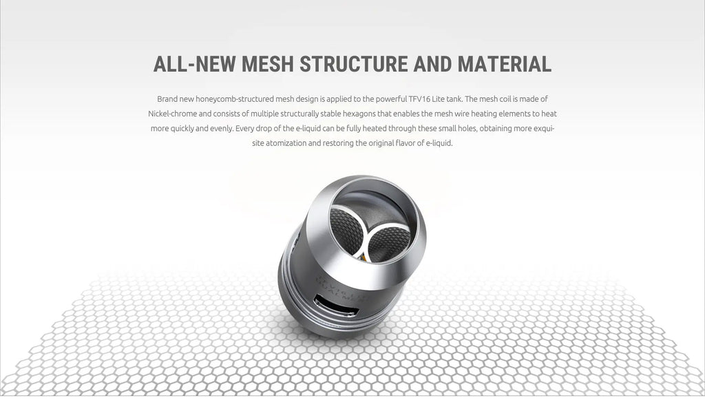 Smok TFV16 Lite Tank Coil Head All-New Mesh Structure And Material