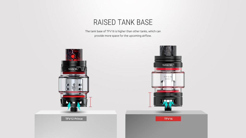 raised Smok TFV16 tank base