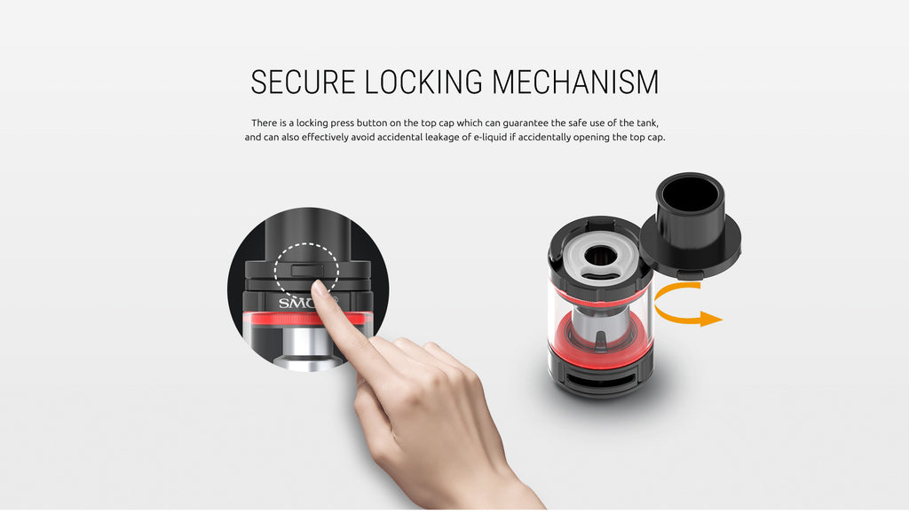 Smok TFV8 Baby Tank Srcure Locking Mechanism