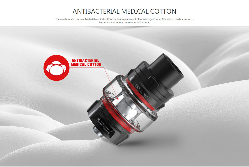 Smok TFV8 Baby V2 Tank Antibacterial Medical Cotton