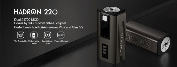 Steam Crave Hadron 220 TC Box Mod