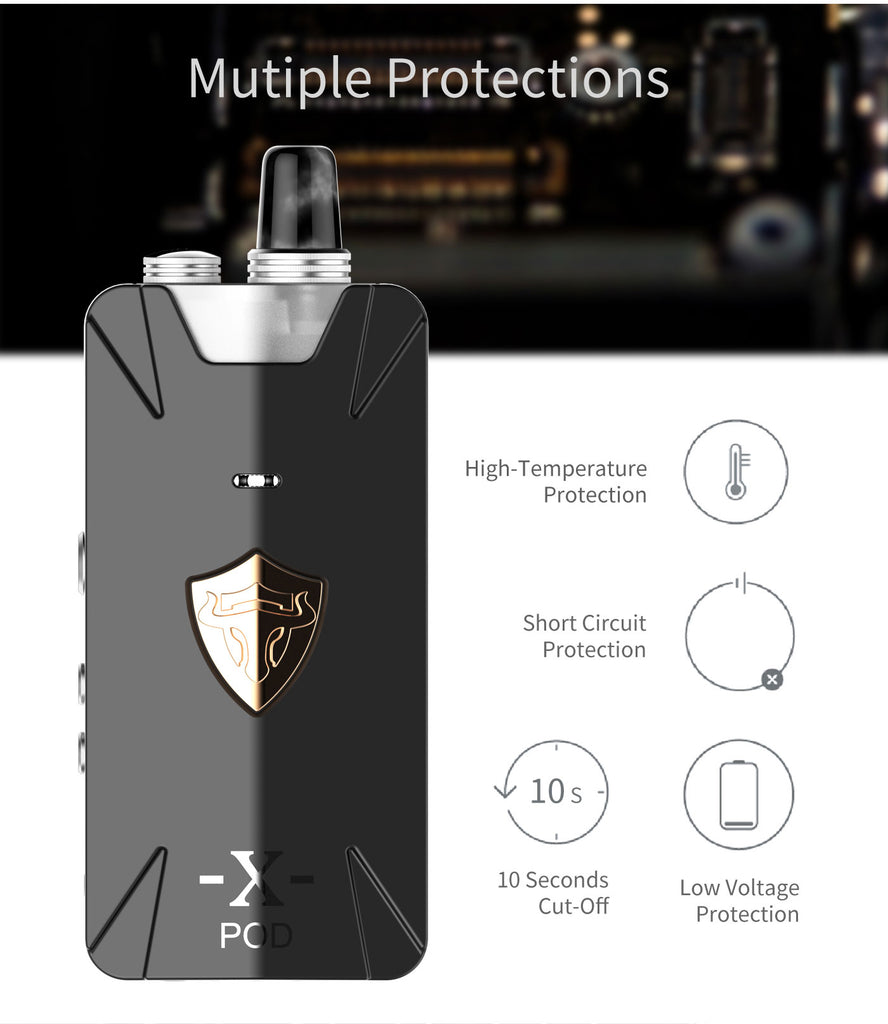 Thunderhead Creations Tauren X Vape Pod System Starter Kit Mesh Version Multiple Protection 1000mAh 2ml