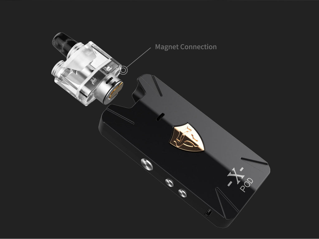 Thunderhead Creations Tauren X Vape Pod System Starter Kit Mesh Version Magnet Connection 1000mAh 2ml