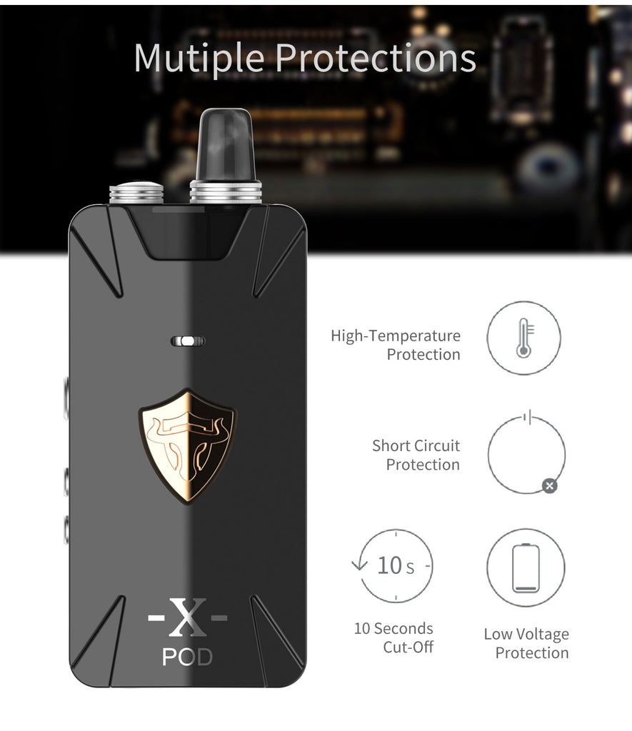 Thunderhead Creations Tauren X Vape Pod System Starter Kit RBA Version Multiple Protection - 1000mAh 2ml
