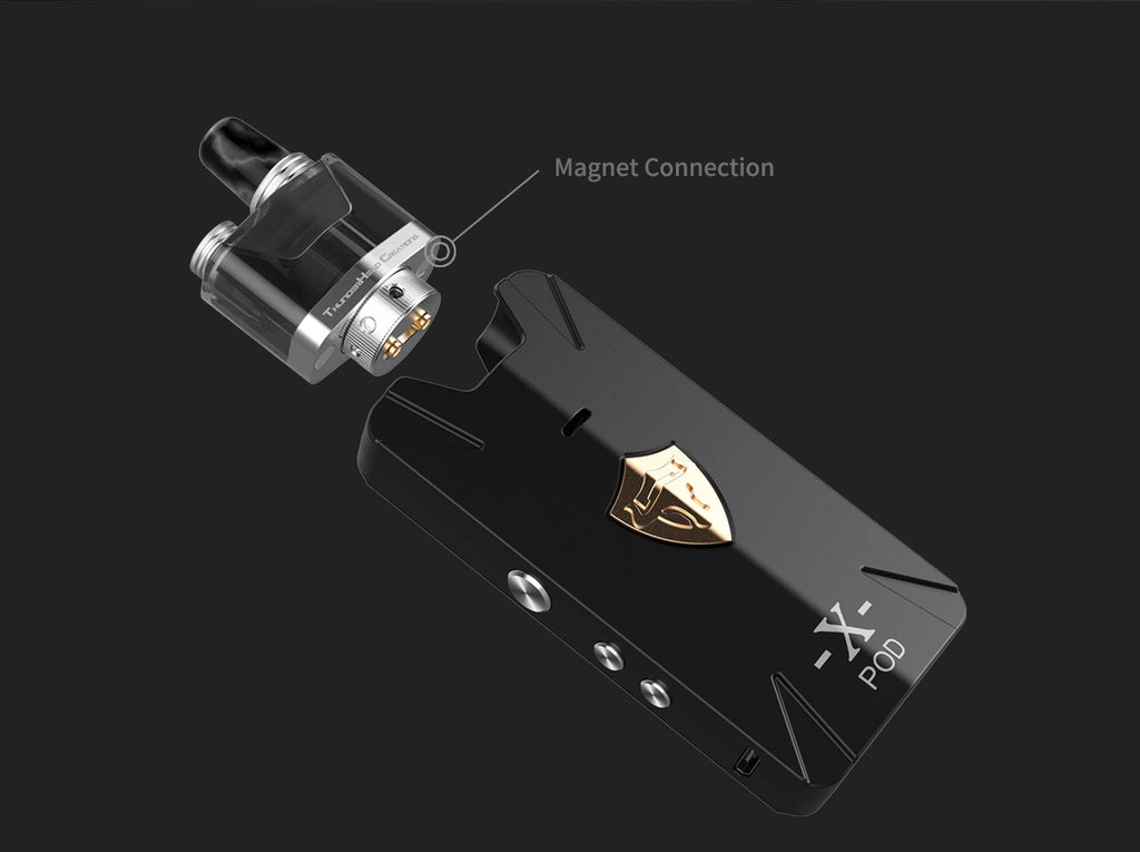 Thunderhead Creations Tauren X Vape Pod System Starter Kit RBA Version Magnet Connection - 1000mAh 2ml