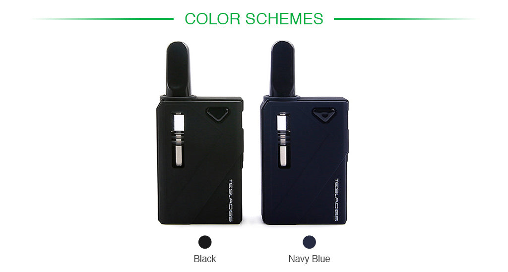 Tesla Mini DUO Kit CBD and WAX Vaporizer Kit Color Schemes