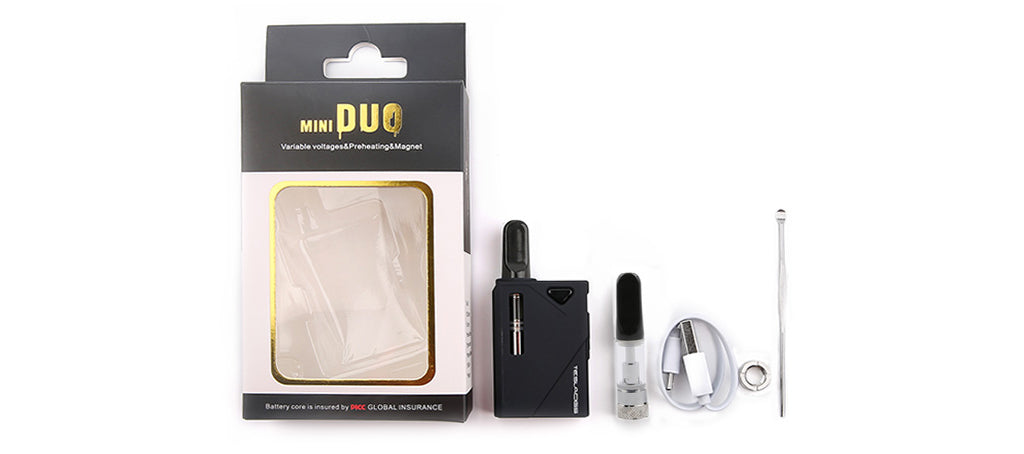 Tesla Mini DUO Kit CBD and WAX Vaporizer Kit Package Includes