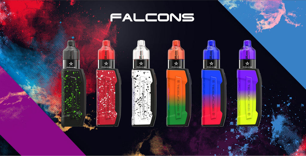 Teslacigs Falcons Pod System Starter Kit with One Tank 2000mAh 3ml 6 Colors Optional