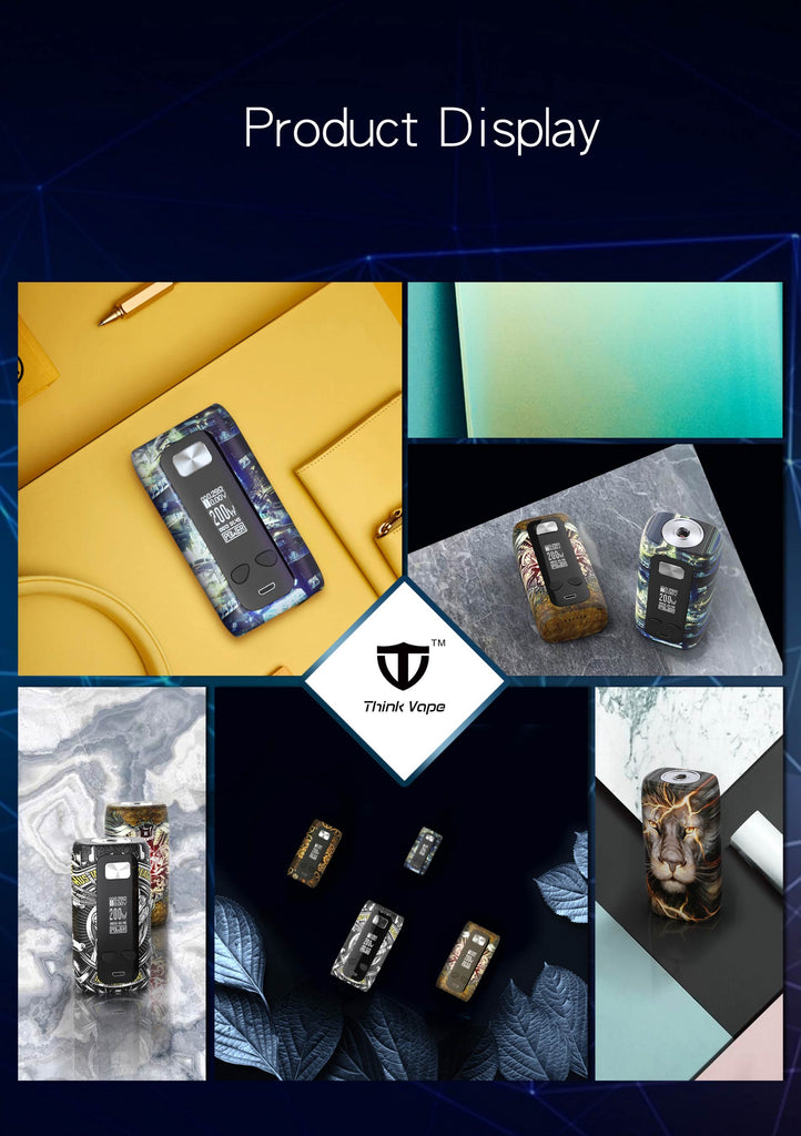 Think Vape Thor TC Box Mod Display