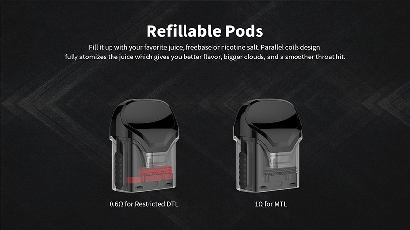 Uwell Crown Pod System Starter Kit Refillable Pods