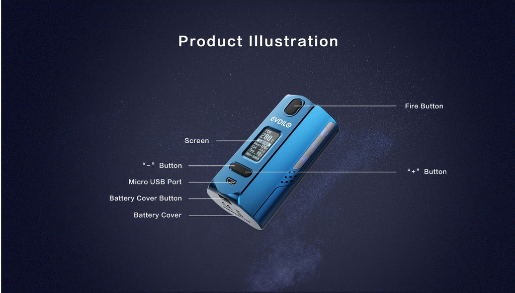 Uwell EVDILO TC Mod 200W Illustration