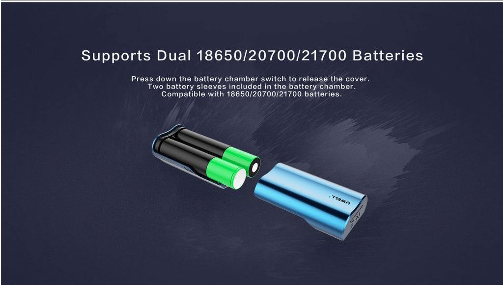 Uwell EVDILO 200W TC Mod Supports Dual 18650/20700/21700 Batteries