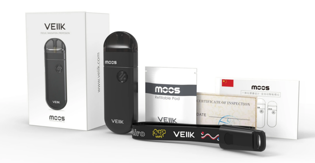 VEIIK MOOS Vape Pod System Starter Kit 1100mAh 2ml Includes