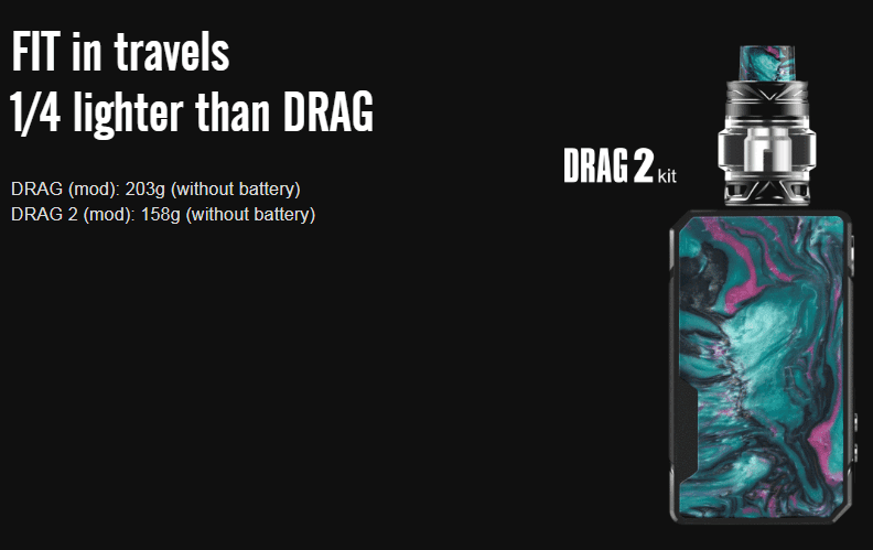 VOOPOO Drag 2 TC Mod Kit Lightweight