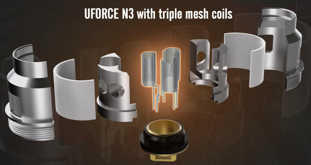 VOOPOO UFORCE N3 Tank With Triple Mesh Coils