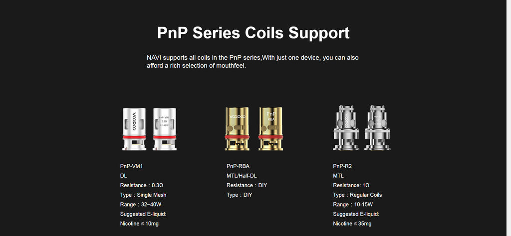 PnP Series Coils Support