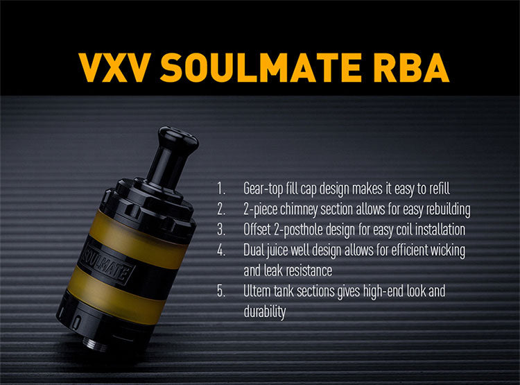 VXV Soulmate RBA 24mm 4ml Main Feature
