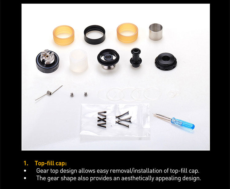 VXV Soulmate RBA 24mm 4ml Components & Top-fill Steps