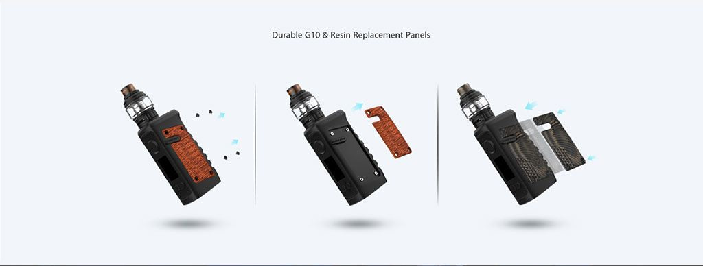 Vandy Vape Jackaroo TC Mod Kit Durable G10 & Resin Replacement Panels
