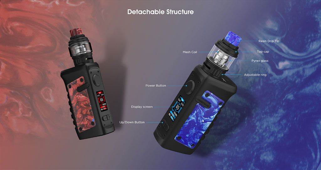 Vandy Vape Jackaroo TC Mod Kit Detachable Structure
